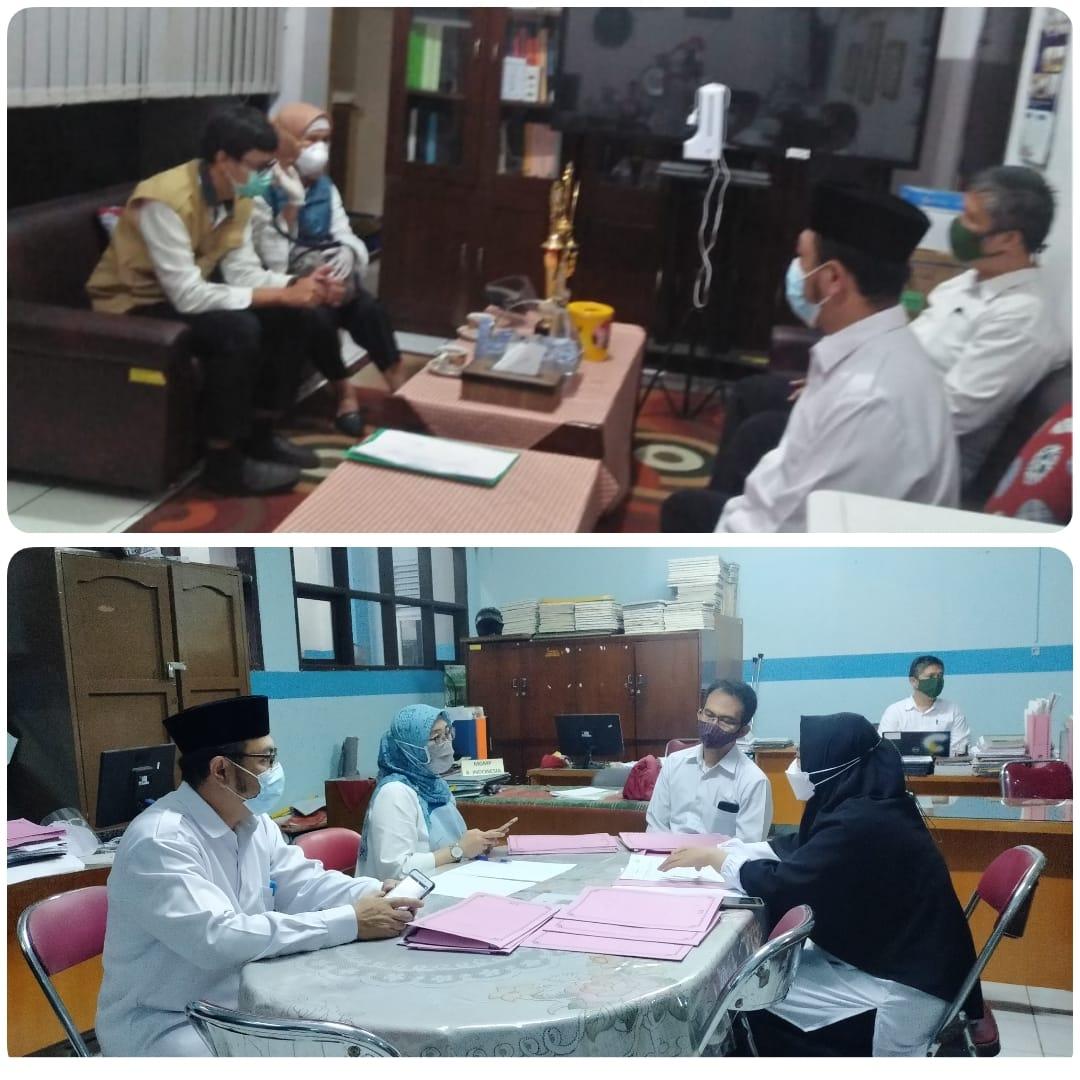 Verifikasi Kesiapan Pelaksanaan PTMT di SMPN 6 Bandung
